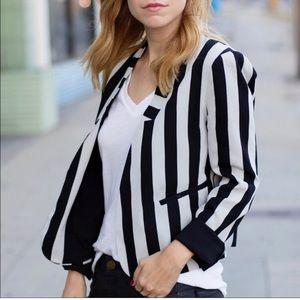 Line & Dot Open Front Blazer Size XS